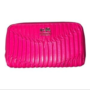 Coach Madison Leather Accordion Zip Wallet Pink
